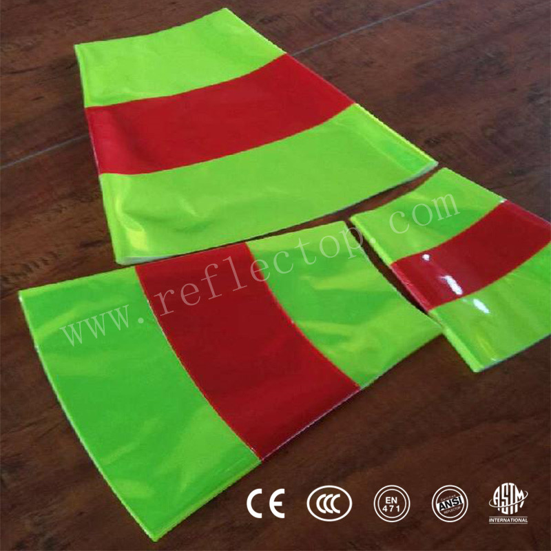 pvc flexible plastic reflective sheet for traffic cone sleeve