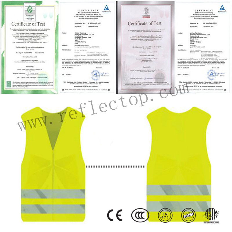 Lime High Visibility Safety Vest