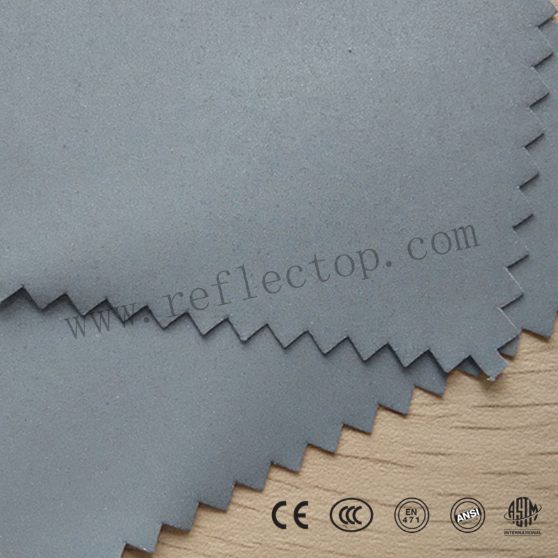 Silver One-side Elastic Reflective Fabric