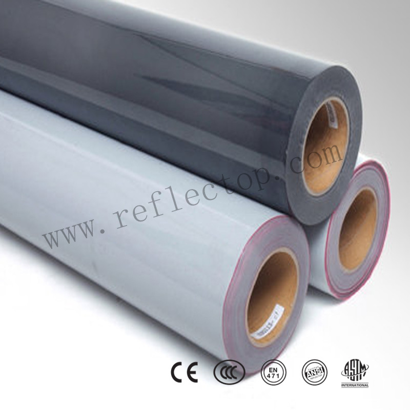 Reflective Silver Heat Transfer Vinyl Roll