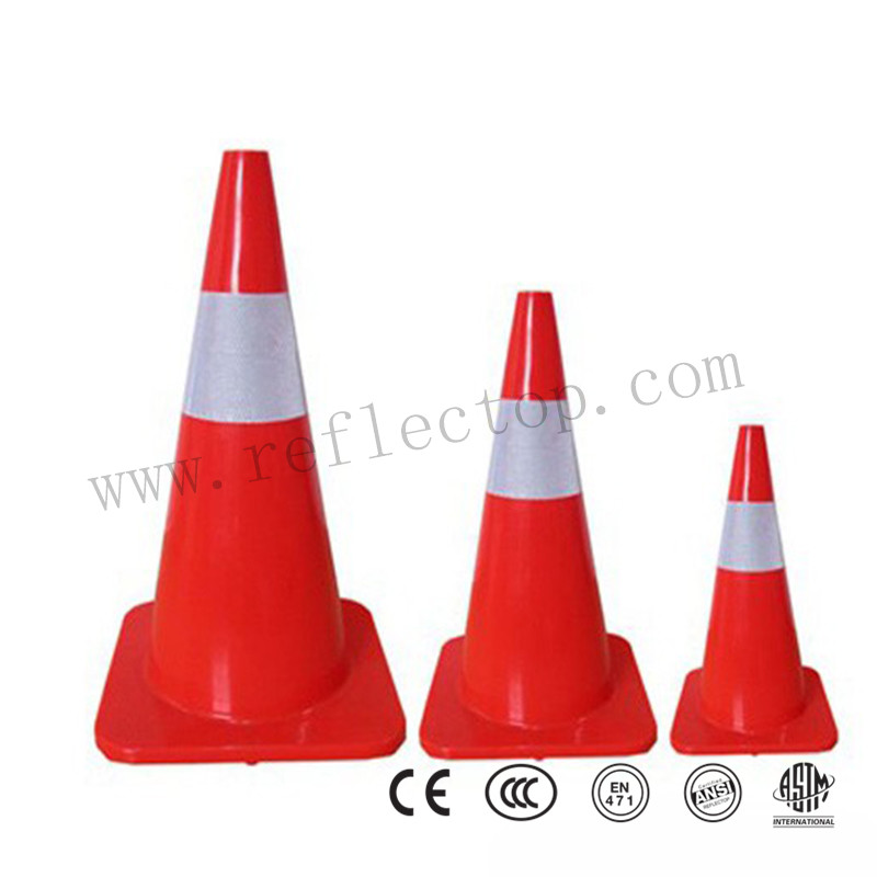 PVC safety reflective cone