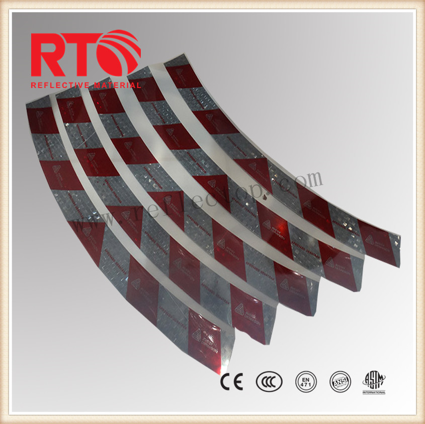 Metallized reflective film for warning spring post
