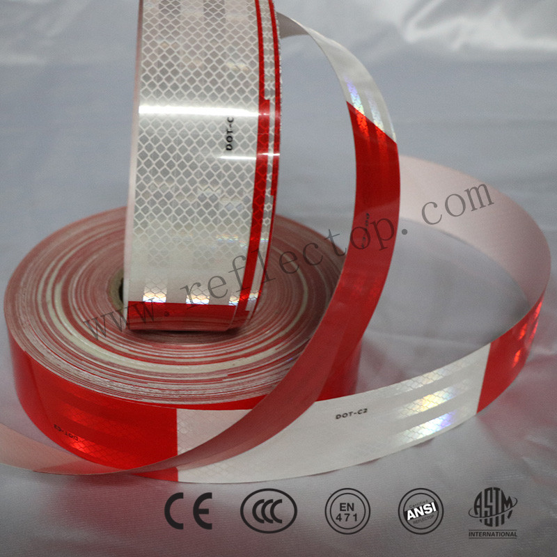 DOT-C2 Red/White Reflective Conspicuity Tape